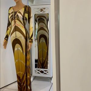 Emilio Pucci runway luxury gown dress.  Excellent